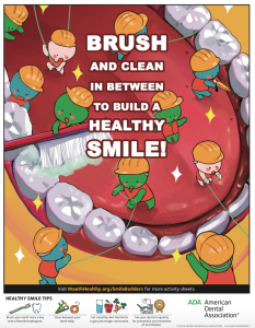 Poster of teeth and flossing